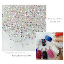 1440 unids/lote 1.3mm Multicolor Micro Nail Rhinestones Del Arte Del Clavo de Mini Decoraciones Del Arte Del Clavo de Manicura Accesorios