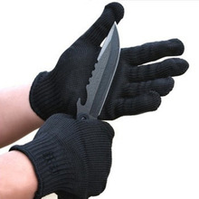 1Pair Black Stainless Steel Wire Safety Works Anti-Slash Cut Resistance Glove New Arrival