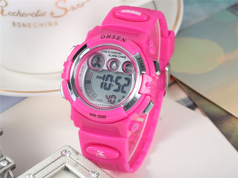 OHSEN Fashion Children Sports Watches Waterproof 5ATM Kids LED Digital Watch Student Outdoor Hand Electronic Clock Montre Femme (29)