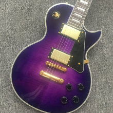 Hot selling lp gitar Custom shop purple color custom electric guitar Percuma penghantaran lp gitar dalam stok