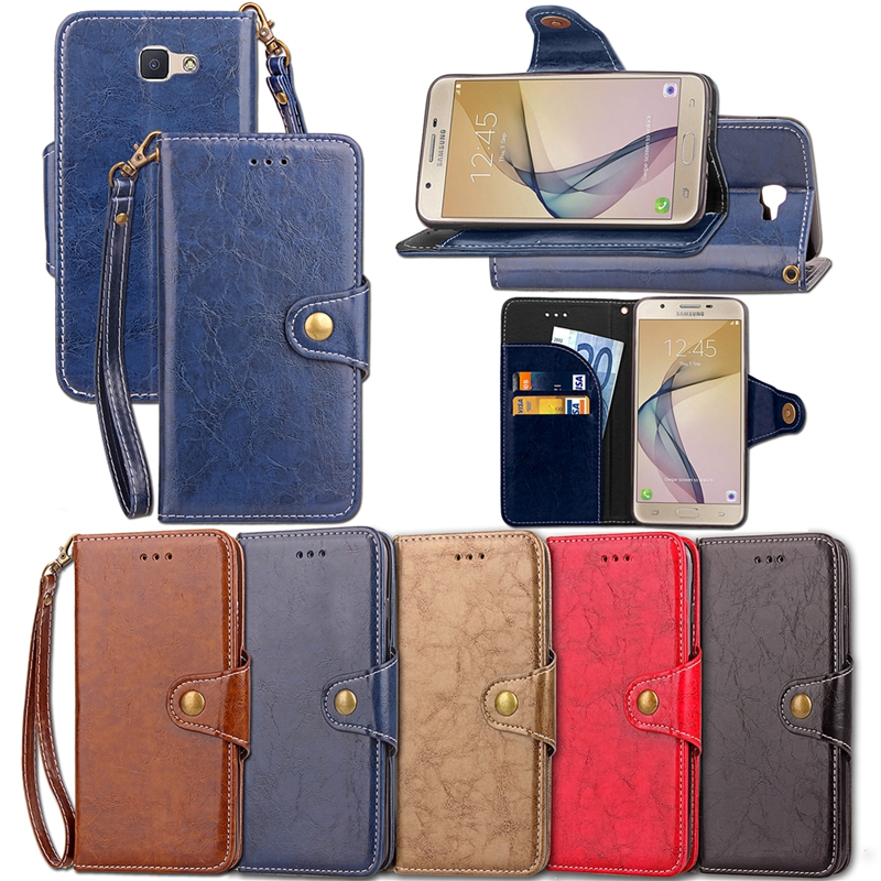 buy popular 2a0fd 5f603 US $5.89 21% OFF Case For Samsung Galaxy J7 2016 J7 6 J710 Luxury Leather  Flip Wallet Phone Cover For Samsung Galaxy J7 Prime On7 2016 Case Etui-in  ...