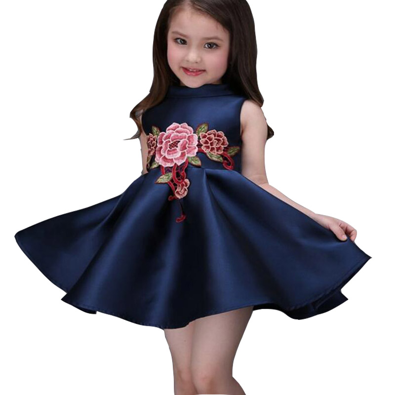 SAMGAMI BABY New Cute Girls Formal Fashionable Dresses Summer Party Birthday Flower Fashion Kids Party Lace Girl High Quality