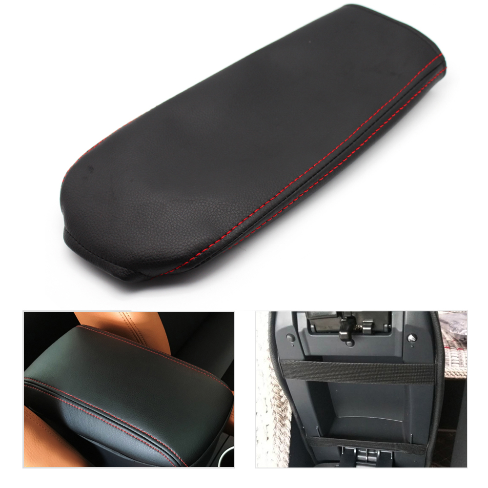Car Center Console Armrest font b Box b font Cover DIY Microfiber Leather Protection Pad For