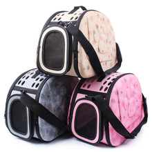 Foldable Soft EVA Pet Carrier Puppy Dog Cat Outdoor Travel Shoulder Bag for Small Dog Pets Portable Dog Kennel 3 Colors