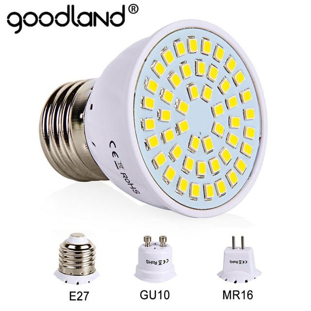 E27 LED הנורה GU10 LED מנורת 220 V SMD 2835 MR16 זרקור 48 60 80 נוריות חם לבן קר לבן אורות עיצוב הבית אמפולה
