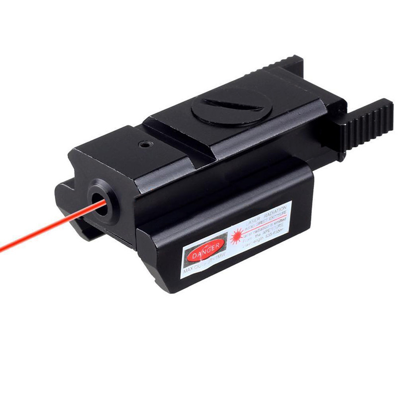 Hot Tactical Red Dot Laser Sight Picatinny 20mm Rail Voor Pistool Glock 17 20 21 22 23 30 31 32 Beretta M9