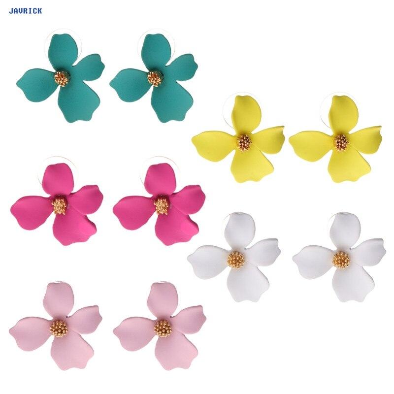 JAVRICK Women Earrings Fashion Floral Flower Ear Stud Gifts Lady Charms Wedding Jewelry