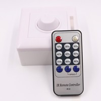 Led Dimmer 110V 220V SCR IR Remote Controller Lighting Dimmer Switch 90 240V AC Input For
