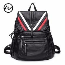 Schaffell Echtes Leder Rucksack Frauen Taschen Mode Teenager Schule Bagpack Strap Laptop Bag 6 Styles