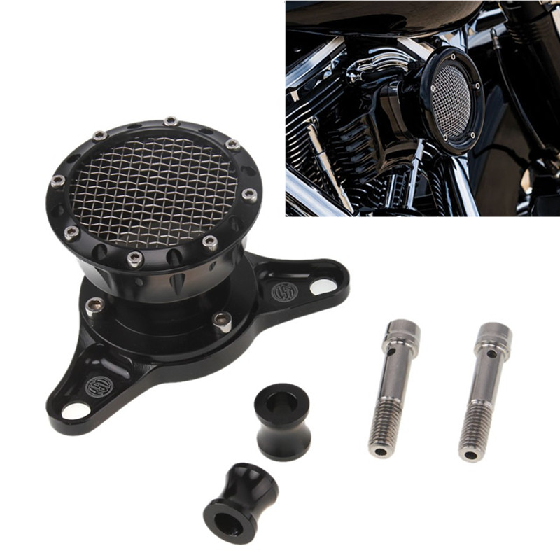 ФОТО CNC Aluminum Air Cleaner Intake Filter Motorcycle Air Cleaner+Intake Filter System for 2004-2014 Harley Sportster XL 883 1200
