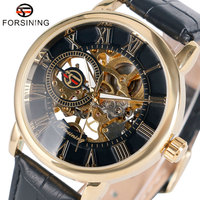 Luxury Brand Forsining Wrist Watch Men S Dress Watches Roman Number Mechanical Wristwatch Gift W153801