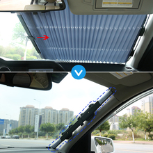 Car Front Windshield Sunshade Rear Window Sun Visor UV Protection Curtain Retractable Foldable Cover