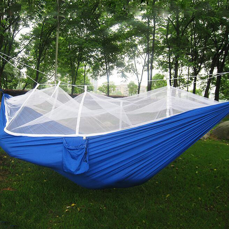 Portable High Strength Parachute Fabric Camping Hammock