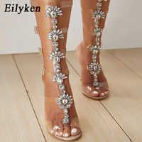 Sandalias transparentes de PVC Eilyken 2020, zapatos de mujer con punta abierta, zapatos de tacón alto, Sandalias de gladiador de fiesta de verano para mujer, tallas 42