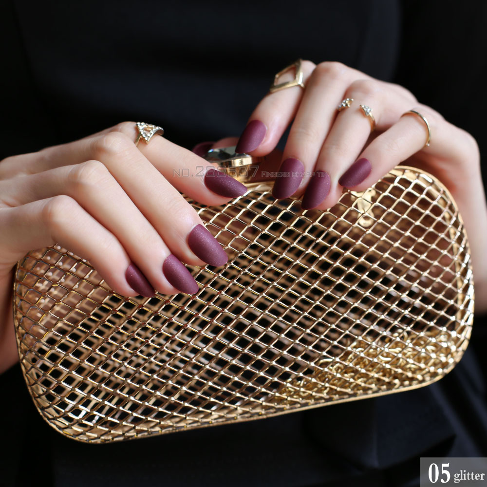 Buy dark red matte nails and get free shipping on AliExpress.com