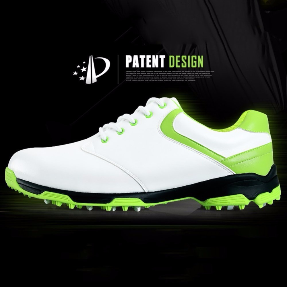 PGM Mens Golf Shoes---Microfiber Leather Breathable Waterproof Gym Sports Shoes 3 Colors Available