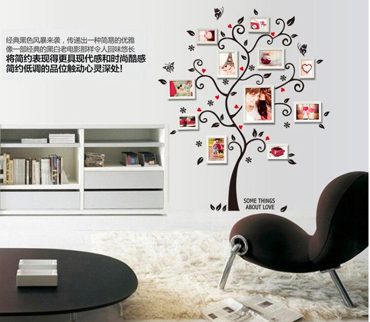 Aliexpress Com Buy Chic Black Family Photo Frame Tree Butterfly