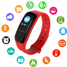 LIGE New Women Smart Bracelet Watch LED Display Touchpad Heart Rate Monitor Fitness Tracker Rubber sport +Box