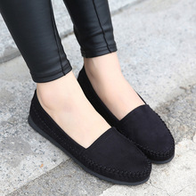 Shoes Woman 2016 Soft Suede Lleather Flats Women Loafers Lovely Girl Flat Shoes Slip on Driving Shoes Moccasins Plus Size