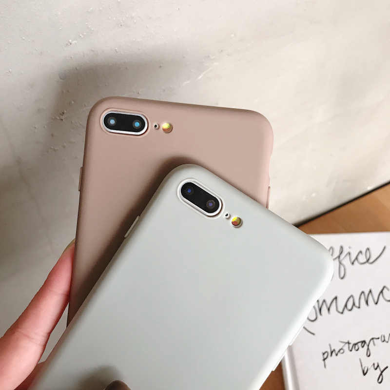 Простые однотонные Цвет мягкий чехол для телефона для iPhone XS Max чехол Модный чехол из ТПУ и силикона с материал для iPhone 6, 6 S, 7, 8plus X XR задняя крышка