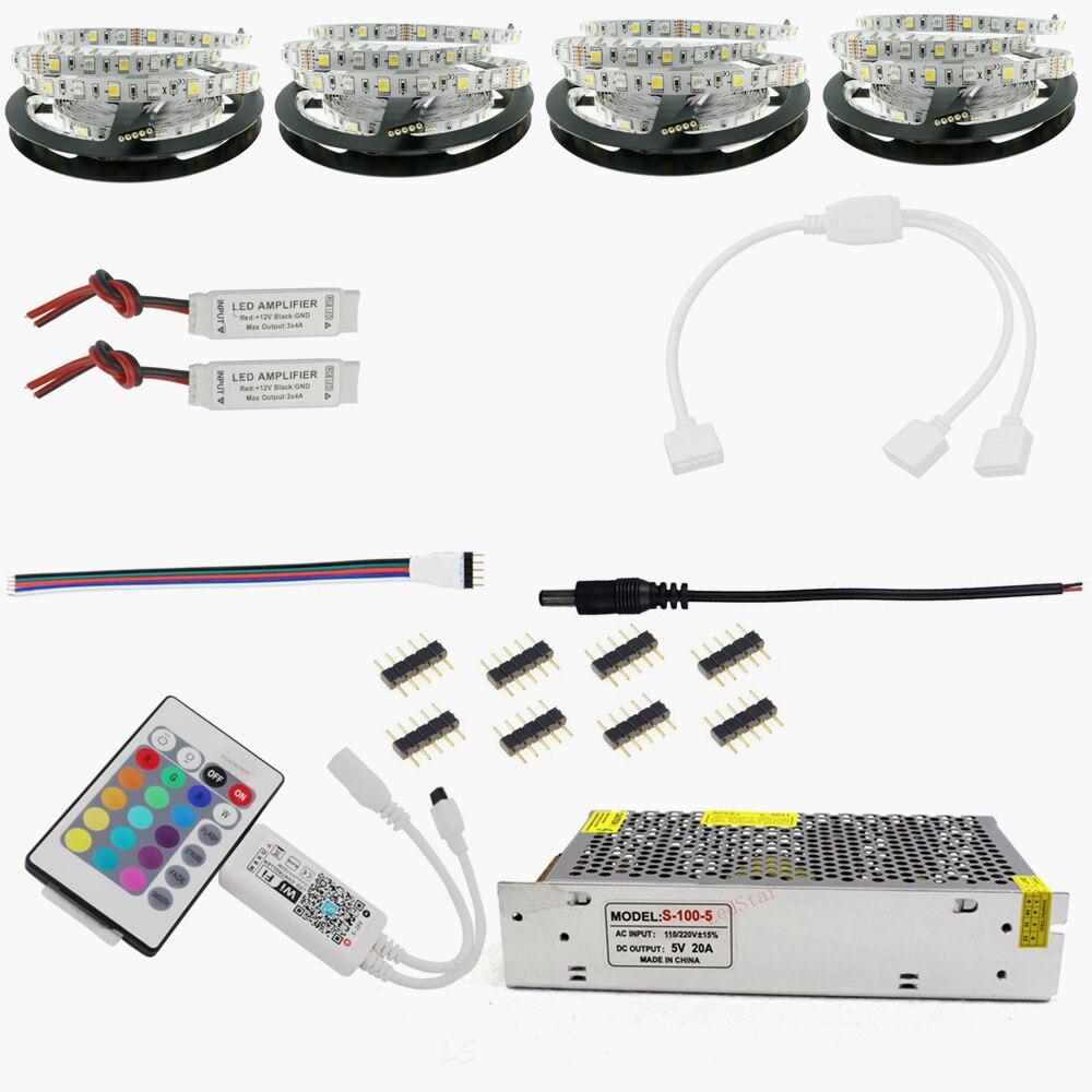 Hotook Wifi Led Strip12v Flexible 5050 300led Rgbw Ip65 Waterproof Circuit Board China Strip Rigid 60led M 20m Smd Dc12v Rgbww Light