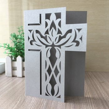 35pcs/lot 2019 New Laser Cut Pray Cross Pearl Paper Invitation Card For Wedding Engagement Mother day Brithday Party Graduation