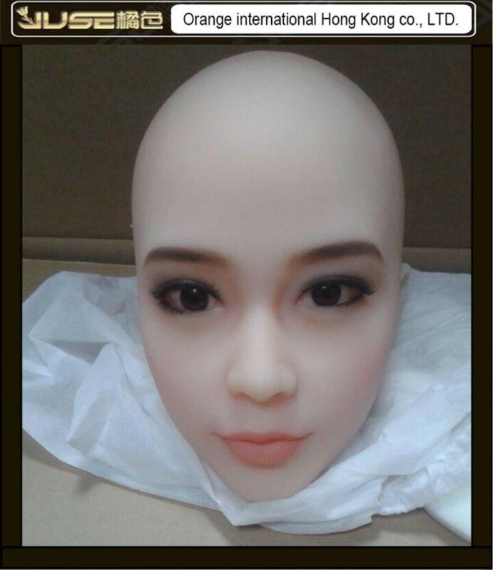 2016 NEW nice face oral sex doll head, lifelike cyberskin head for full body love dolls, doll head oral sex toys for man, HD-020