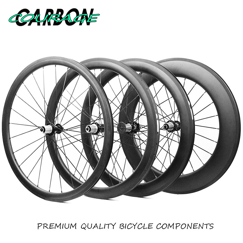 купить 700C 38mm 50mm 60mm 88mm Carbon Clincher tubular Road Bike Bicycle Wheels Super Light Carbon Wheels Racing Wheelset r36/r39 недорого