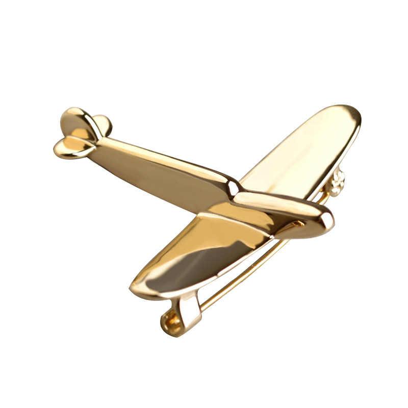 Alta Qualidade de Ouro-cor Avião Broche Pin Fresco Bijouterie Ouro Broches Para Criança Cachecol Chapéu Mochila Cardigan-cor joias Broche