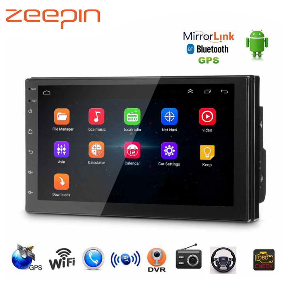 Универсальный gps навигации Wi-Fi радио автомобиль MP5 плеер для VW Toyota Android USB аудио плееров, Bluetooth FM AM Поддержка OBD TPMS DVR