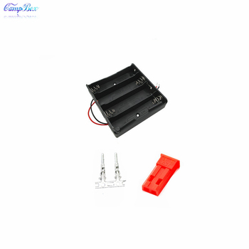 50Pcs 4x18650 Battery Case Holder Socket Wire Junction Box  With 15cm Wires, JST 2.54 Male Header and Crimps