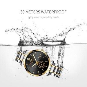 Image 4 - NIBOSI Relogio Masculino Relojes כחול זהב שעון Mens שעונים למעלה מותג יוקרה ספורט שעון קוורץ עסקים עמיד למים שעוני יד