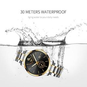 Image 4 - NIBOSI montre de Sport, étanche, pour hommes, Quartz, couleur bleu, doré, marque de luxe, pour lentreprise