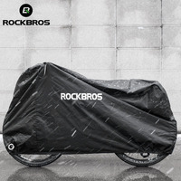 ROCKBROS Bicycle Raincover Protect Gear Waterproof Dust proof Rain Snow Dust Sunshine UV Protective Cover Bike Accessories Black