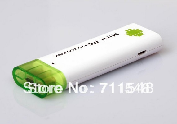 Free shipping Rockchip RK2928 1.5 GHz Mini Android PC ,Android 4.1 TV WiFi Stick Box 1G/4G support external TF card