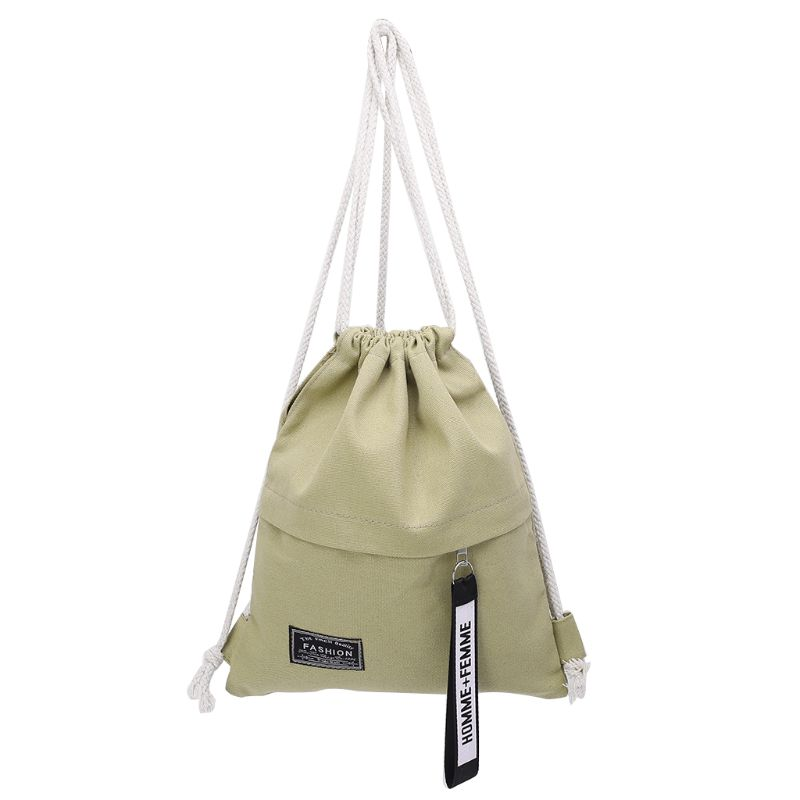 Cinch Sack Canvas Storage School Gym Drawstring Bag Pack Rucksack Backpack Pouch Men's Bags Backpacks