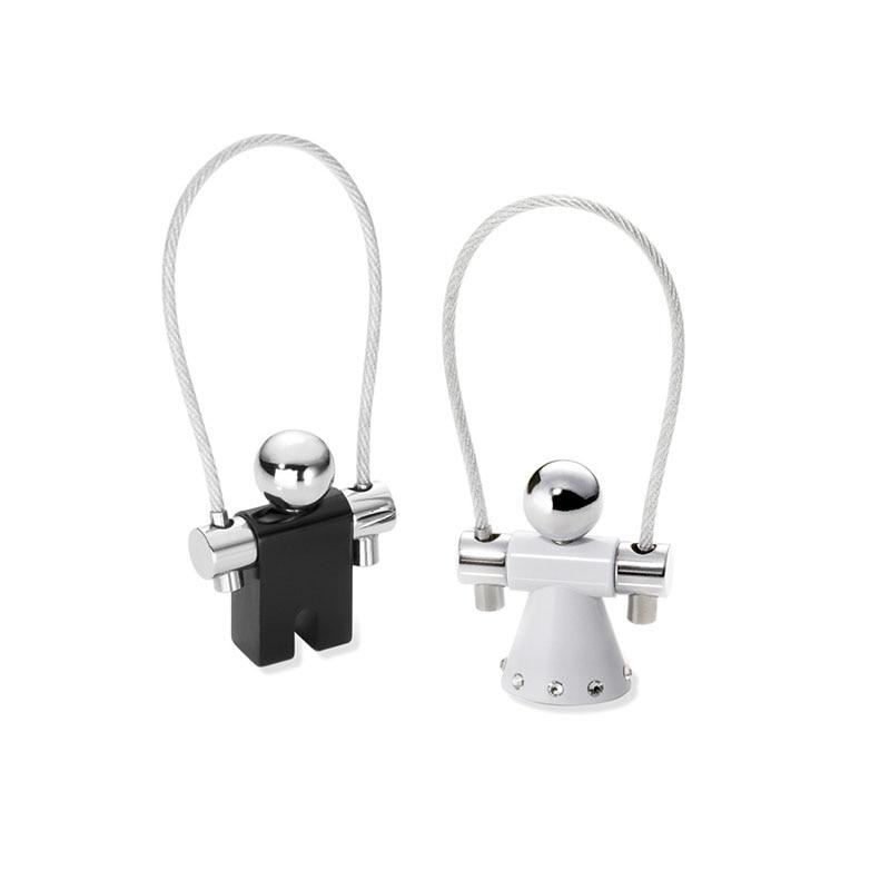 Germania Troika genuino set di cristallo di amore corda per saltare coppia chiave/cerchio corda per saltare piccolo anello chiave del metallo - 2
