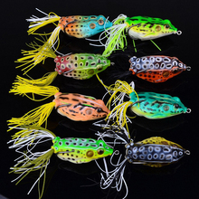 8Pcs/Set Fishing Lures Frog Iscas Sapo Fishing Lure Top Water Hooks Bass Soft Plastic Bait Tackle Spinner Sinking
