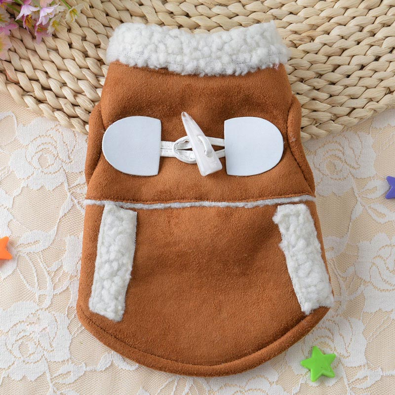 Windproof Coat Puppy Motorcycle Vest Dogs Jacket Winter Warm Pet Dog Cat Clothes Costume Clothing Pets Supplies Hot Sale