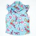 Verão de Moda de Alta Qualidade de Poliéster Confortável Tees Crianças Roupas Das Meninas Do Bebê T Camisa Dos Miúdos Tops Casual Havaí Necessárias