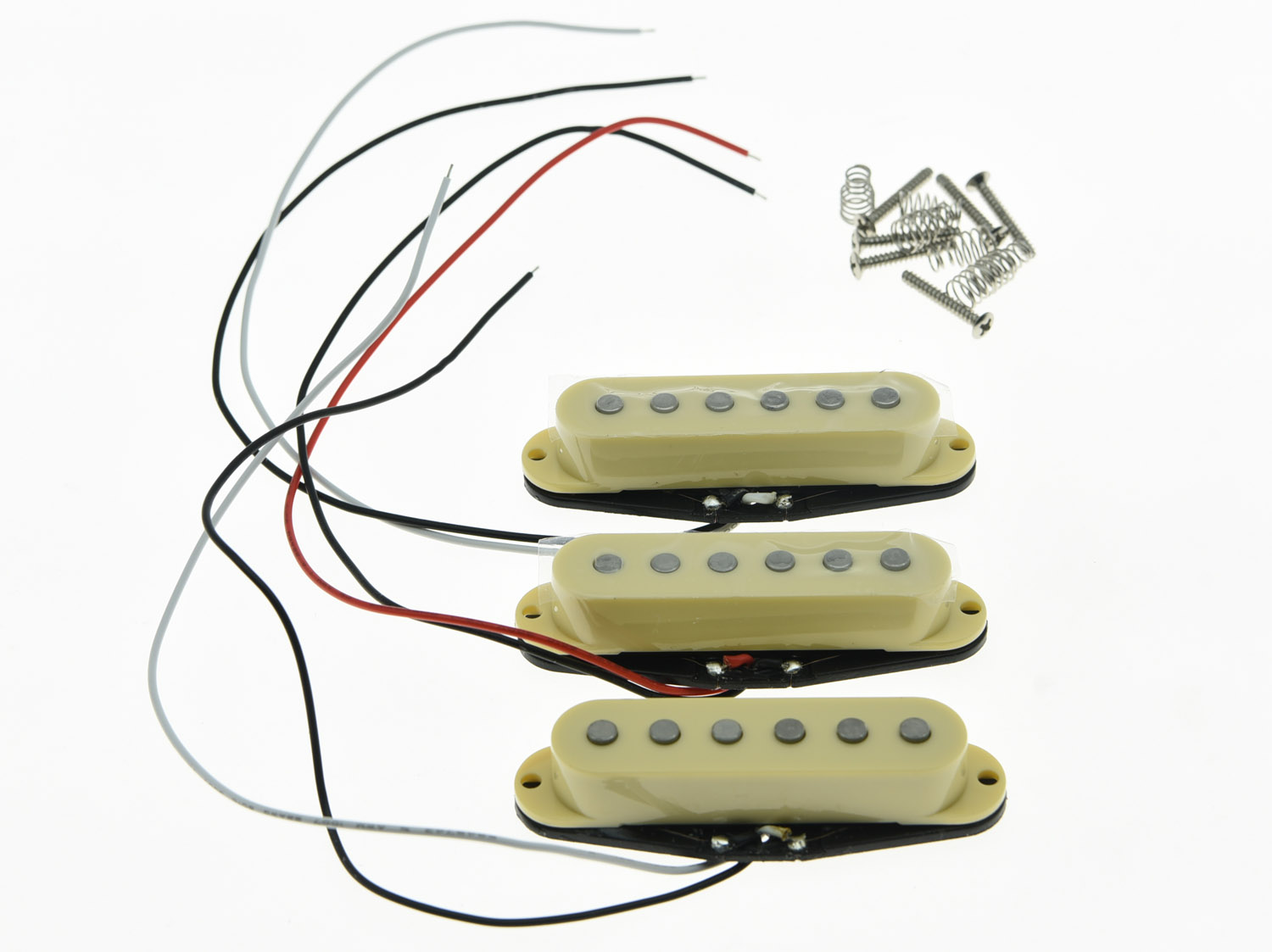 KAISH 3x N/M/B Cream Alnico 5 Single Coil Pickups High Output Sound Strat SSS Pickup vintage voice single coil pickups fits for stratocaster ceramic bobbin alnico single coil guitar pickup staggered pole top