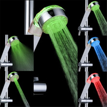 Temperature sensor 3 water jets multifunctional shower heads with lights