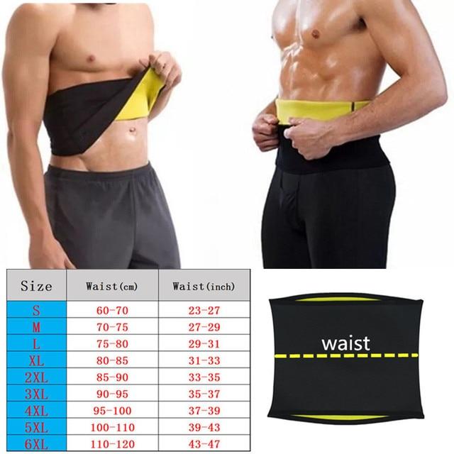 Men's Body Shapers Belt Sweat Sauna Neoprene Running Fitness Sports New Waist Trainer Control Corset Slimming Belt Waist Trimmer 3