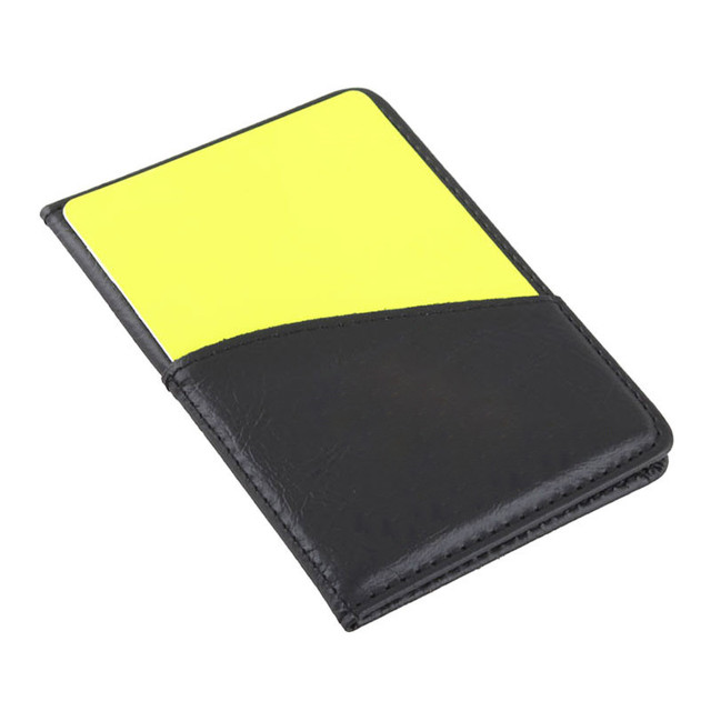 Portable Sport Football Soccer Referee Wallet Notebook with Red Card and Yellow Card Football Accessories Team Sports