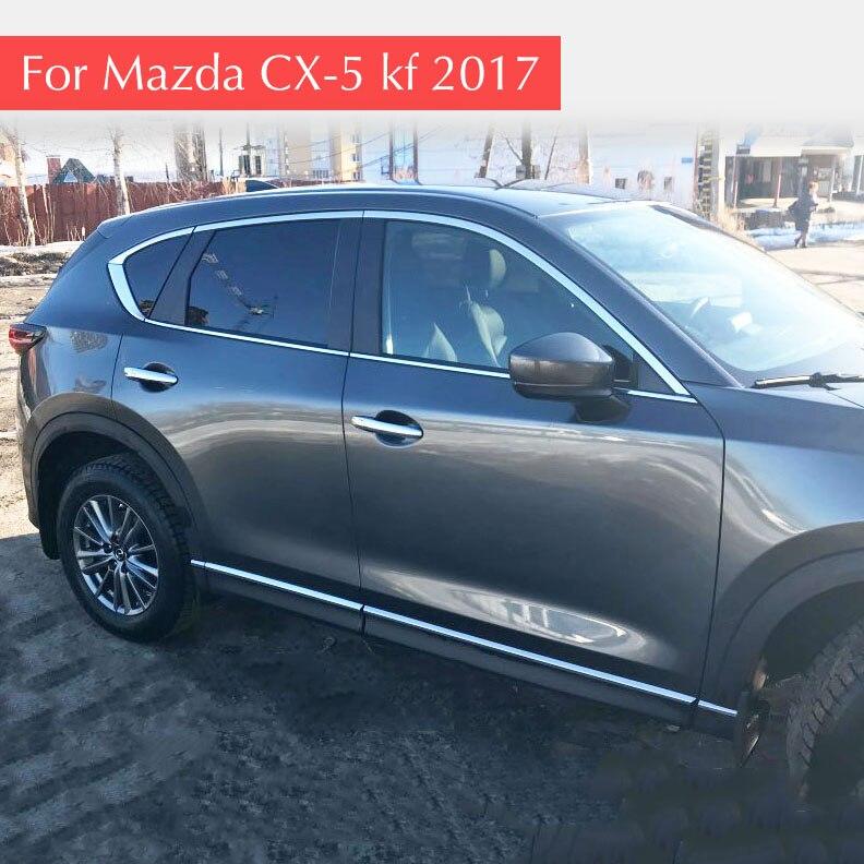 Окна автомобиля отделка Chrome полоски внешней отделки гарнир Крышка Ремонт для Mazda CX-5 CX5 2017 2018 KF автомобильные аксессуары
