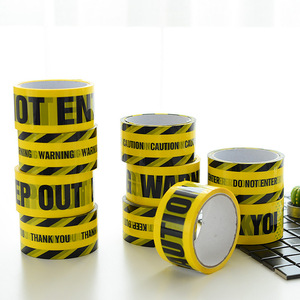 Image 2 - 1 Roll 48mm*25m Opp Warning Tape Danger Caution Barrier Remind Work Safety Adhesive Tapes DIY Sticker For Mall Store School
