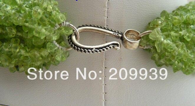 Livraison gratuite>>> @ AS3487 WOW classic collier péridot 12 brins vert naturel - 3