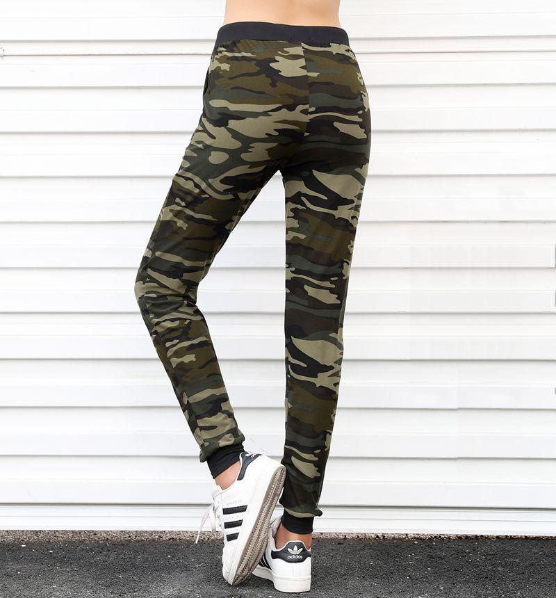 Sweatpants Harem Como Pants Drawstring Pantaloons Loose Female High Waist Pocket 4