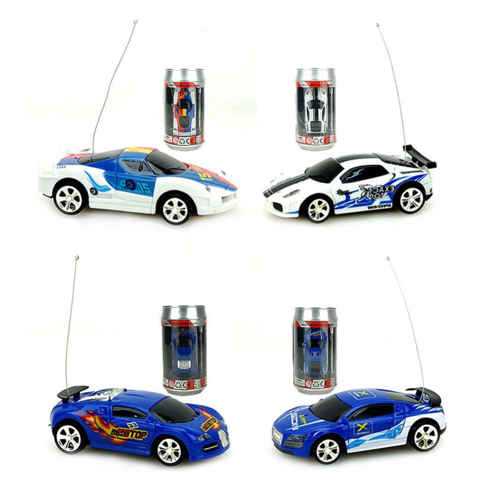 Batteriebetriebene Fahrzeuge Coke Can Mini Speed RC Radio Remote Control Micro Racing Car Toy Gift New OAX