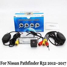 Для Nissan Pathfinder R52 2012 ~ 2017/RCA AUX Проводной Или Беспроводной автомобильная Стоянка Камеры/HD CCD Ночного Видения Камеры Заднего вида